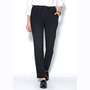 PANTALON Pantalon fluide taille élastique et cordon femme 8a2a869d296