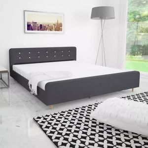 STRUCTURE DE LIT Cadre de lit 180 x 200 cm Lit Adulte tapisserie en