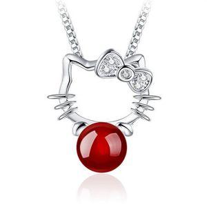 SAUTOIR ET COLLIER 1000 et un bijoux. Collier Hello Kitty Perle Rouge
