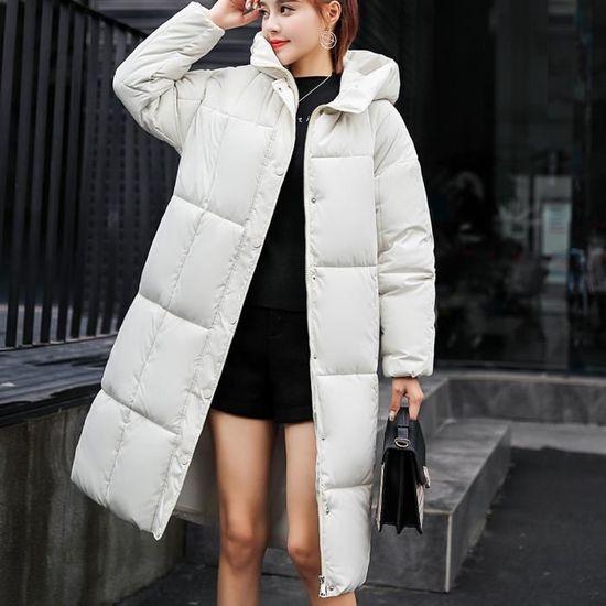 Épais D'extérieur Coton Manteau Slim Les Blanc Veste Chaud À Rembourré Capuchon Femmes D'hiver qxtpF