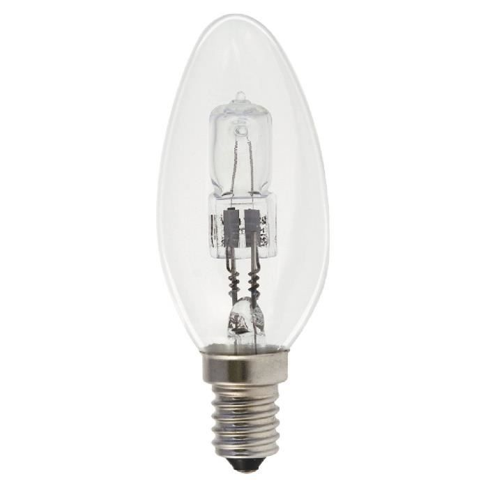 lampe halog ne flamme e14 ge 405lum 30w compat achat. Black Bedroom Furniture Sets. Home Design Ideas