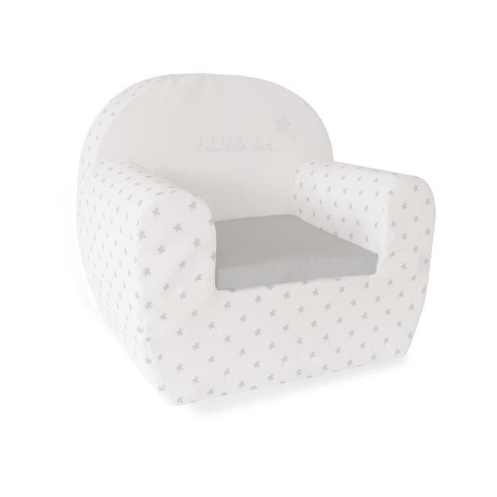 ABSORBA Canapé déhoussable Chut bébé dort - 100% coton - 43,5x47x35 cm - Gris