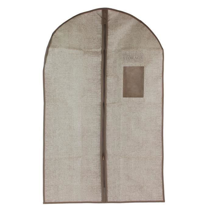 Housse de vêtement Deluxe - 95 cm - Ivoire