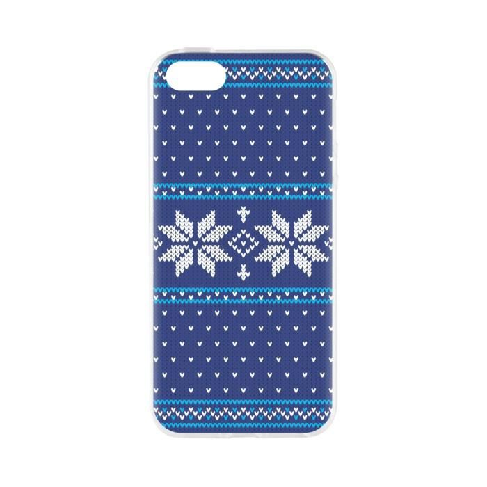 FLAVR Coque Case Ugly Xmas Sweater - Iphone 5 / 5s / SE - Bleu
