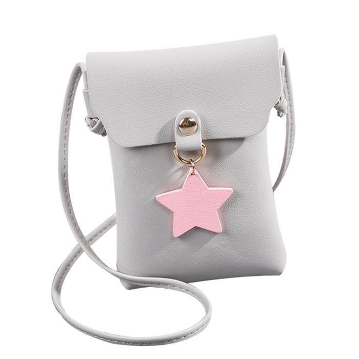 À Mama7263 Solides De Bandoulière Bag Sac Étoiles Femmes Gy Couverture Téléphone Messenger 6U4Pq