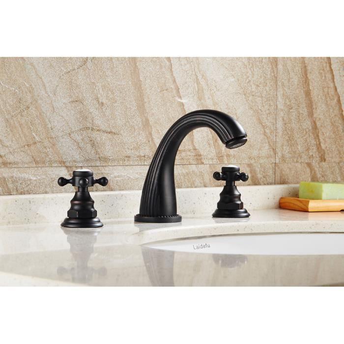 Robinet lavabo moderne robinet salle de bain Noir mitigeur - Achat ...
