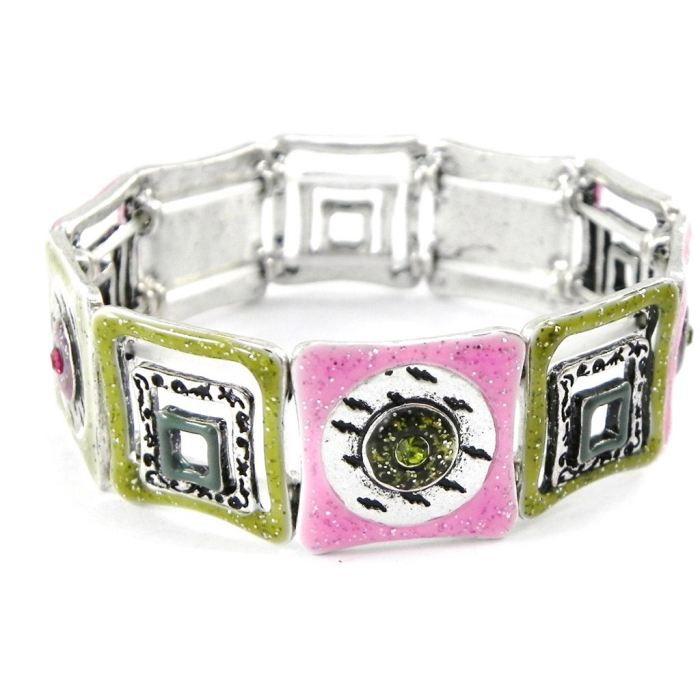 Bracelet Créateur Acapulco rose vert