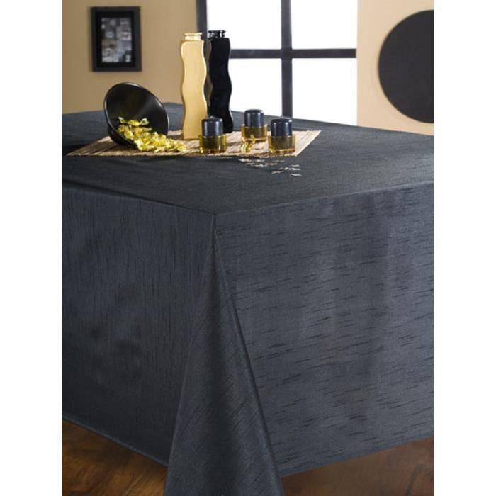 nappe en tissu rectangulaire 150x200 cm effet soie noir. Black Bedroom Furniture Sets. Home Design Ideas