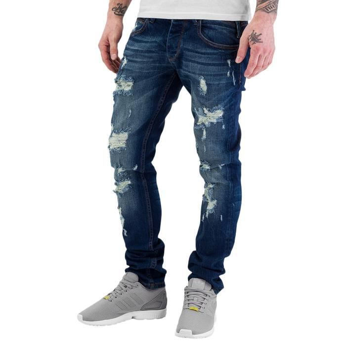 Jeans Destroyed Bleu Homme Rhyse Straight Just Fit Eqxgp8Onw