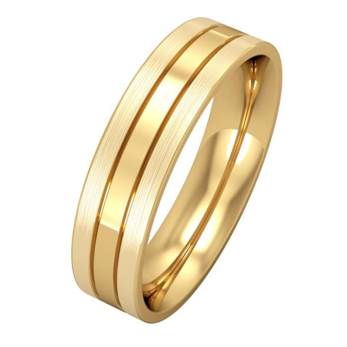 Jewelco London Or Jaune 18k mariage bague 5mm