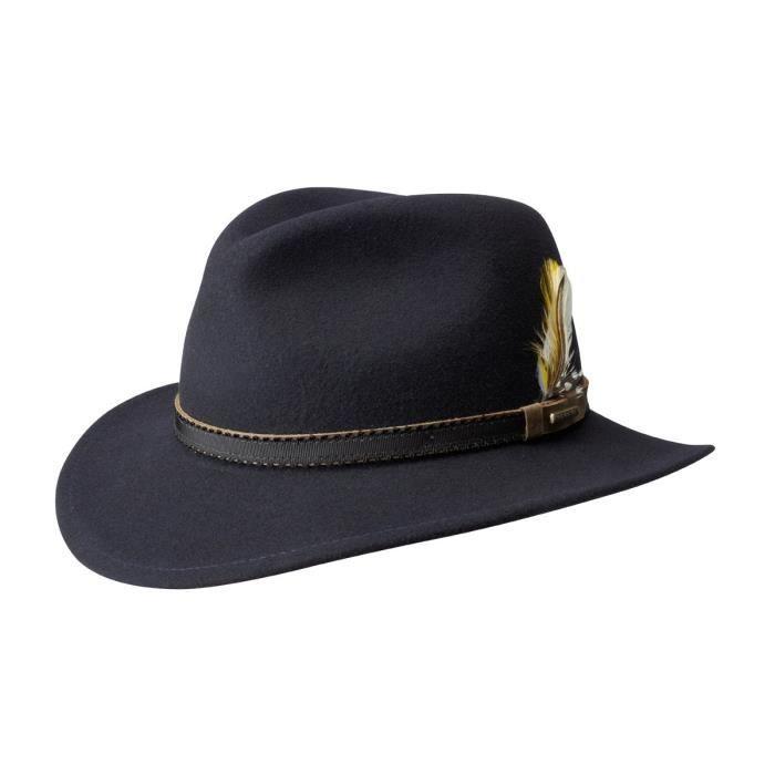 4cf93c9eb798d Chapeau stetson vitafelt marine Bleu Bleu - Achat   Vente chapeau ...