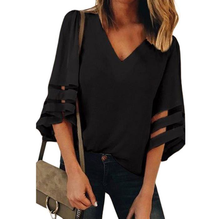 T shirt polyester femme - Achat   Vente pas cher 92d09ef68c1