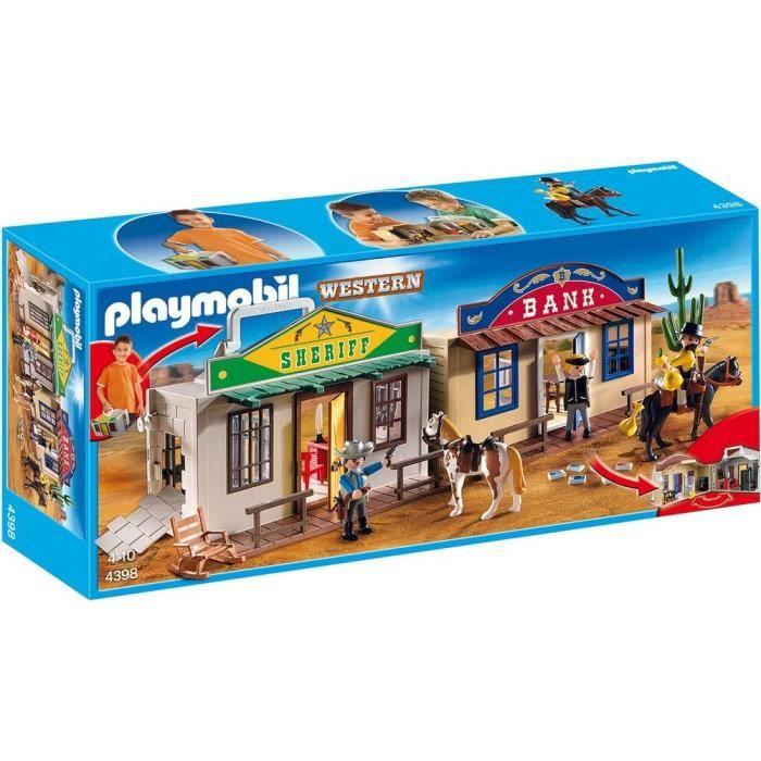 playmobil 4398 coffret cow boy transportable achat vente univers miniature cdiscount. Black Bedroom Furniture Sets. Home Design Ideas