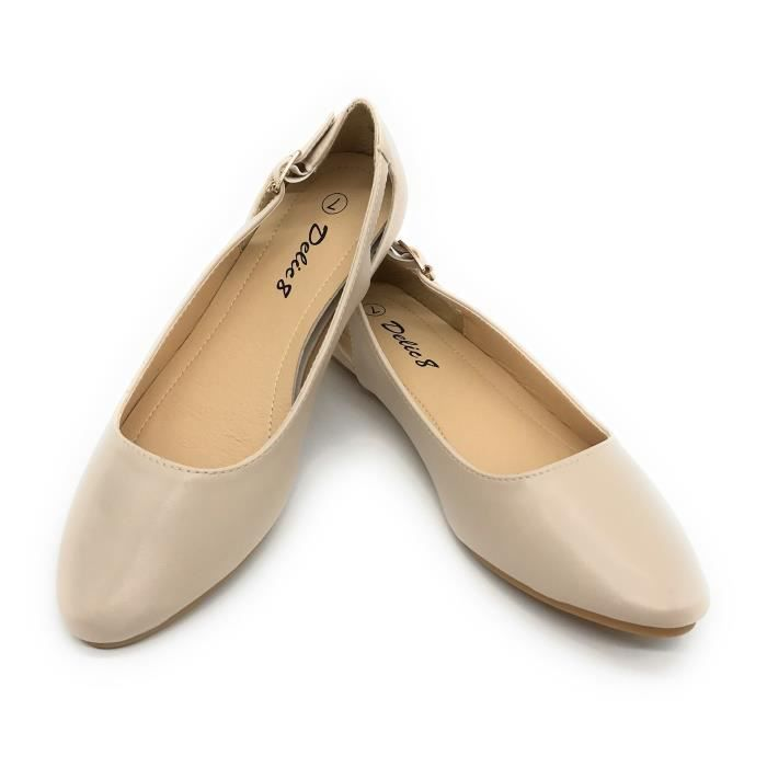 Easy21 Casual Flats Ballet Fashion Shoes Faux Leather Y4Q2P Taille-41