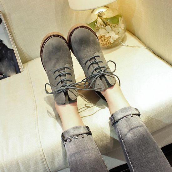 Talon Casual Femme Plat Style Modewll8994 British Martin Chaussures Bottes De O8n0Pwk