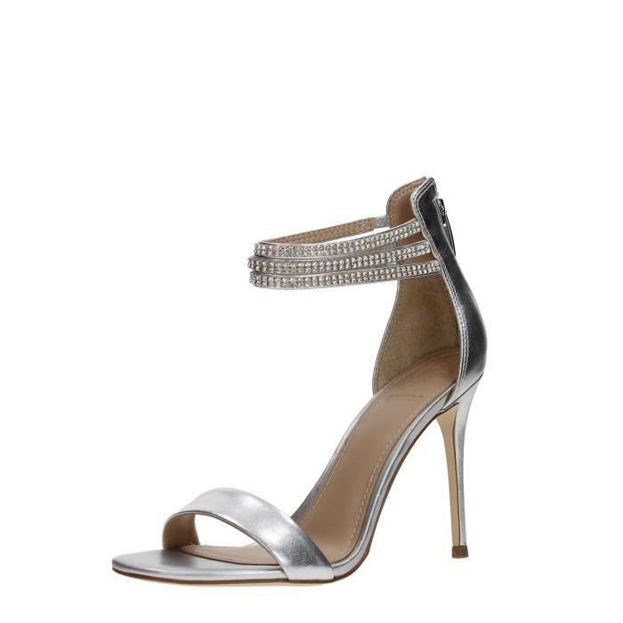 Guess Sandale Femme SILVER, 36