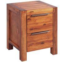 CHEVET KKmoon Tables de chevet Bois d'acacia massif Avec