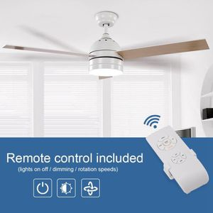 VENTILATEUR DE PLAFOND KAIFSHOP Ventilateur de plafond à lames avec LED 5