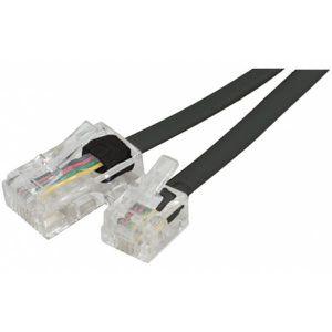CÂBLE RÉSEAU  Cable RJ45 RJ11 téléphone 10m noir