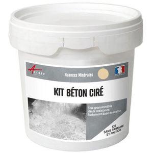 Béton Ciré Sol Salle De Bain Cuisine Plan De Travail Décoratif Kit Enduit  Décoratif Minéral - Kit 2 M² (2 Couches) - Vanille - Beige