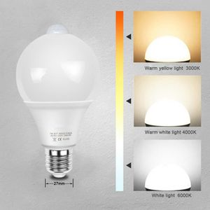 AMPOULE - LED 9W Ampoule led e27 exterieur, LED Ampoule detecteu