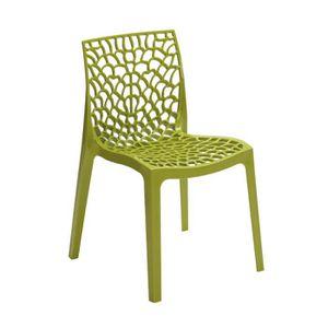 fauteuil jardin resine vert achat vente pas cher