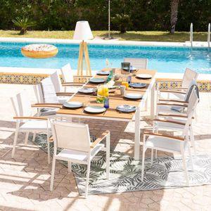 Table de jardin aluminium et bois - Achat / Vente pas cher