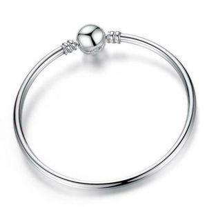 BRACELET - GOURMETTE Bracelet Charms Enfant Disney Style Pandora Argent