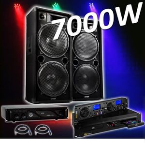 PACK SONO PACK SONO Complet 4000W PRO DJ MAX-215 4x38cm + Am