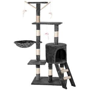 ARBRE À CHAT MCTECH Arbre à chat 50x35x135 cm avec Griffoir ave