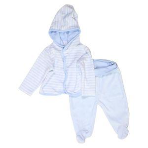 e6b9dcb33ec89 Pyjama 2 pièces bébé garçon C A 3 mois blanc hiver - vêtement bébé  1064055