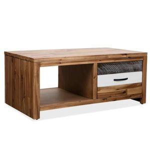 TABLE BASSE Table basse de salon Avec 1 tiroir et 1 étagère Bo 4520876bc37e