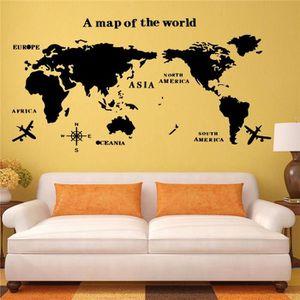 carte du monde murale noir achat vente carte du monde. Black Bedroom Furniture Sets. Home Design Ideas