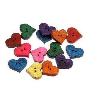 !! couleurs différentes!! 10pcs Mignon Coeur Bébé 2 trous en plastique italien BOUTONS 13 mm