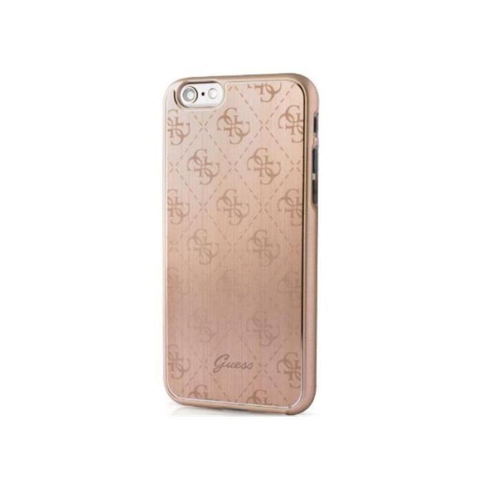 GUESS Coque en aluminium - Pour iPhone 6 / 6S - Rose