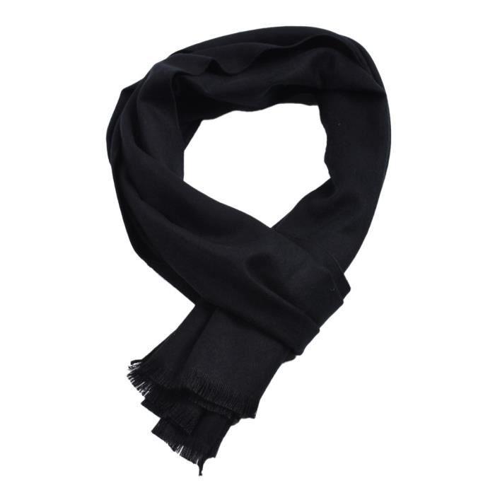 c115b720e17c Nouveau mode chaud d hiver d homme solide ColorCashmere long cou ...