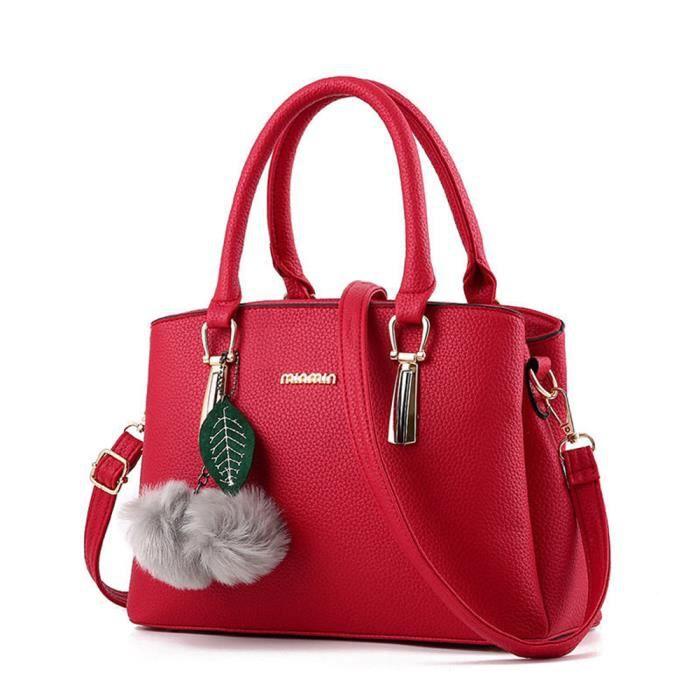 c736932d35 Sac à main cuir De Luxe Femmes Sacs Designer de marque pour femme qualité  supérieure agréable rouge