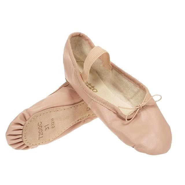Chausson Danse chaussons de danse demi pointe cuir rose - prix pas cher - cdiscount