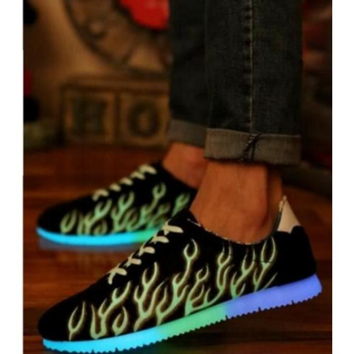 Fluorescentes chaussures de sports des hommes chaussures casual chaussures hommes