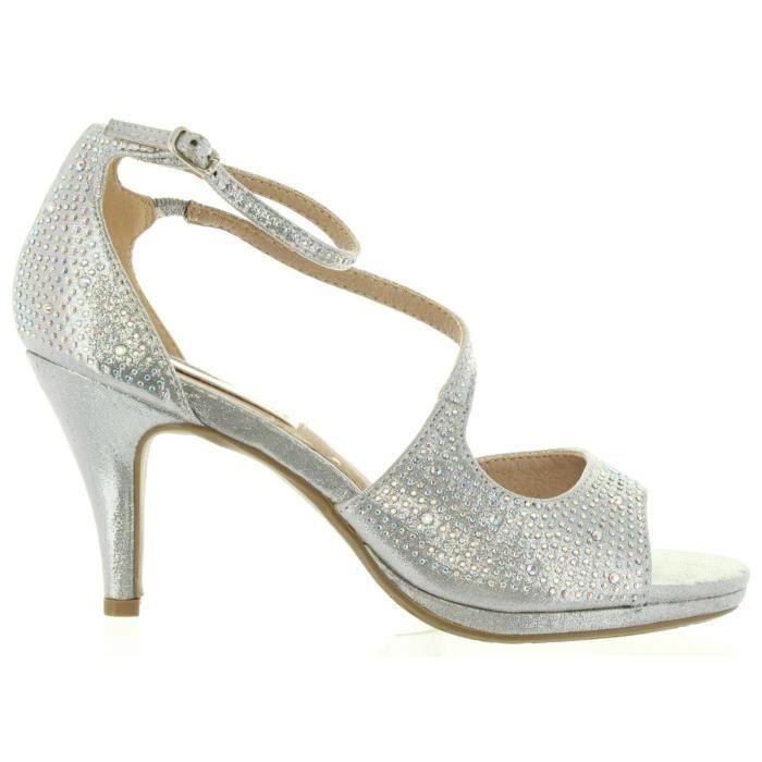 Xti 30572 Plateado - Chaussures Sandale Femme