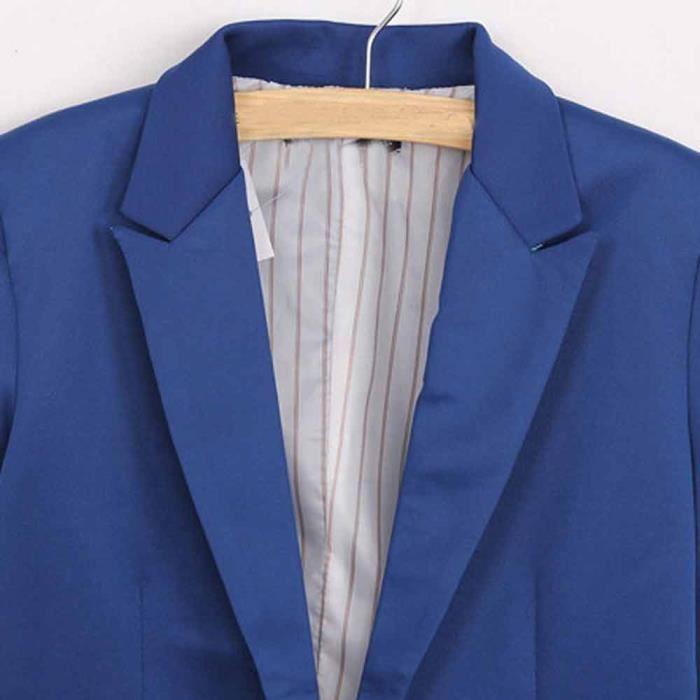 Veberge nbsp;veste Blazer Bleu Femmes Longues Outwear Slim Manches À Yxp70911651 Suit Ppl4776 UUwAqarn