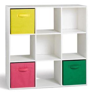 COMPO Lot de 2 cubes 9 cases Blanc