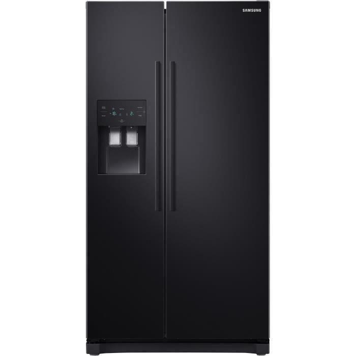 SAMSUNG RS50N3503BC Réfrigérateur américain-501 L (357 + 144 L)-Froid ventilé-A+-L 91,2 x H 178,9 cm