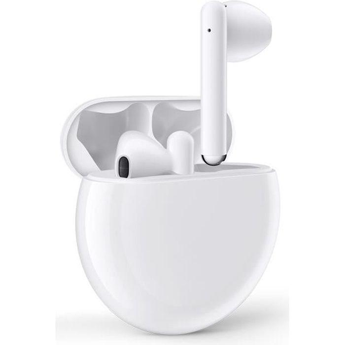 HUAWEI Freebuds 3 Écouteurs sans fil - Boîtier de charge sans fil - Blanc