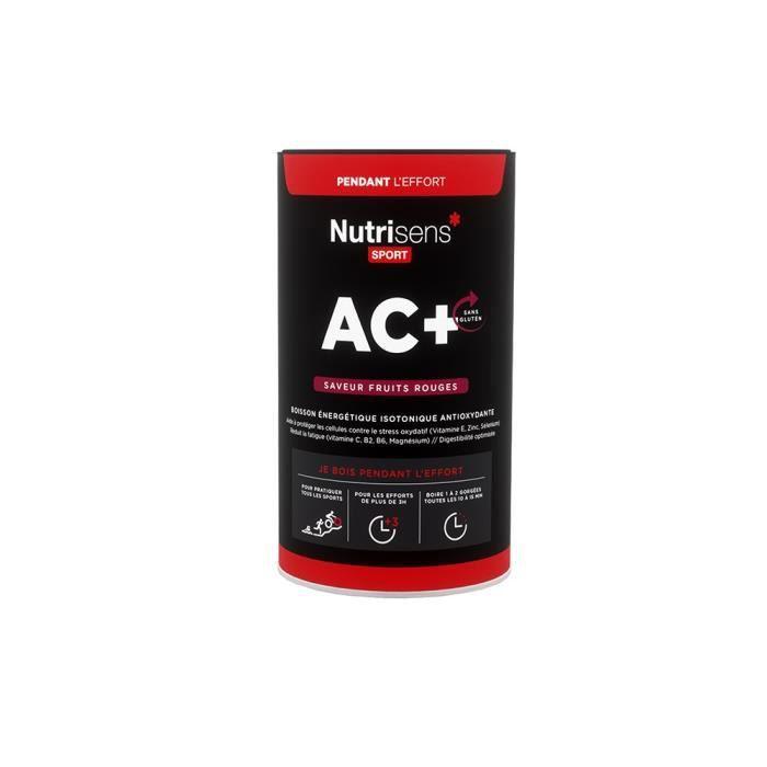 NUTRISENS Complément alimentaire - Pot de 500 g pour préparation de boisson énergétique AC+ - Fruits rouges