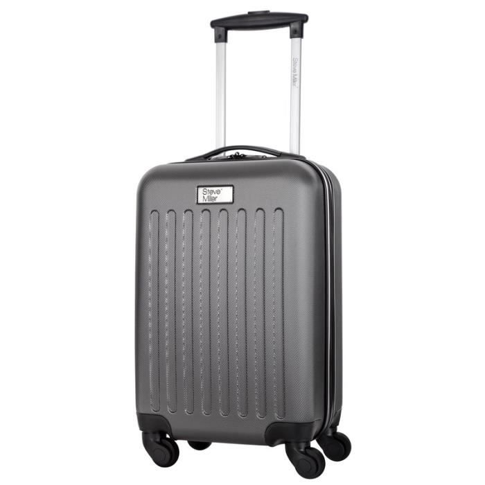STEVE MILLER - YOUNG Valise Cabine Rigide 4 Roues - Gris