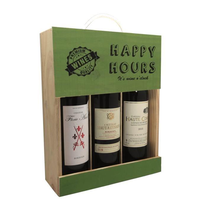 Coffret Vin Happy Hours 3 bouteilles