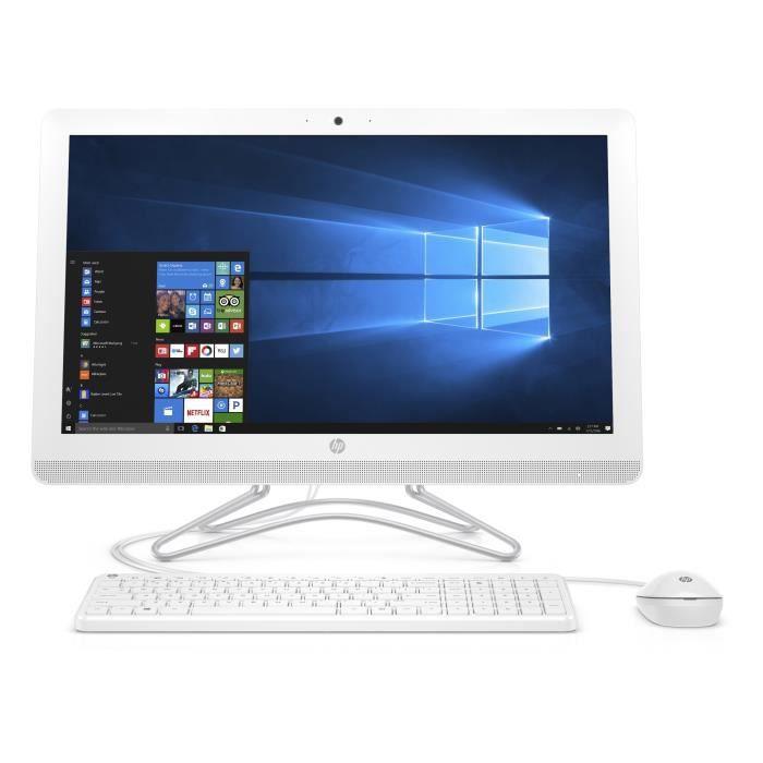 Ordinateur Tout-en-un - HP 24-e043nf - 23,8 pouces - Core i3-7100U - 4Go de RAM - Disque Dur 1To - Windows 10