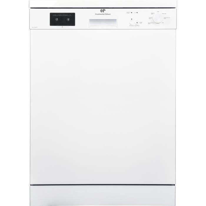 CONTINENTAL EDISON Lave-vaisselle - A++ - 13 couverts - 45 dB - 2 paniers+tiroir couverts - départ d