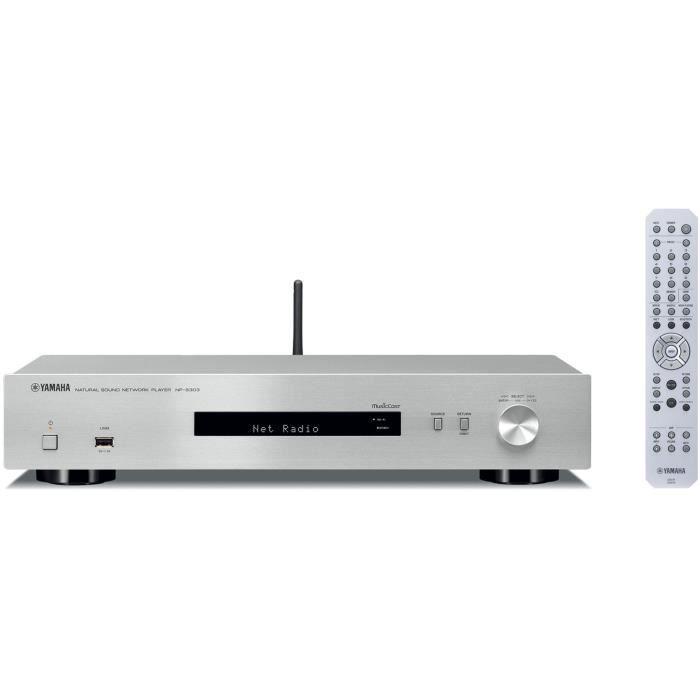 YAMAHA NP-S303 Passerelle réseau compatible MusicCast - Bluetooth - Silver
